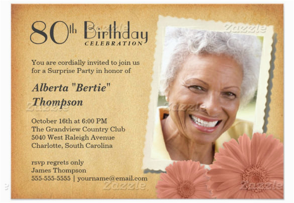 80 Year Old Birthday Party Invitations 26 80th Invitation Templates Free Sample