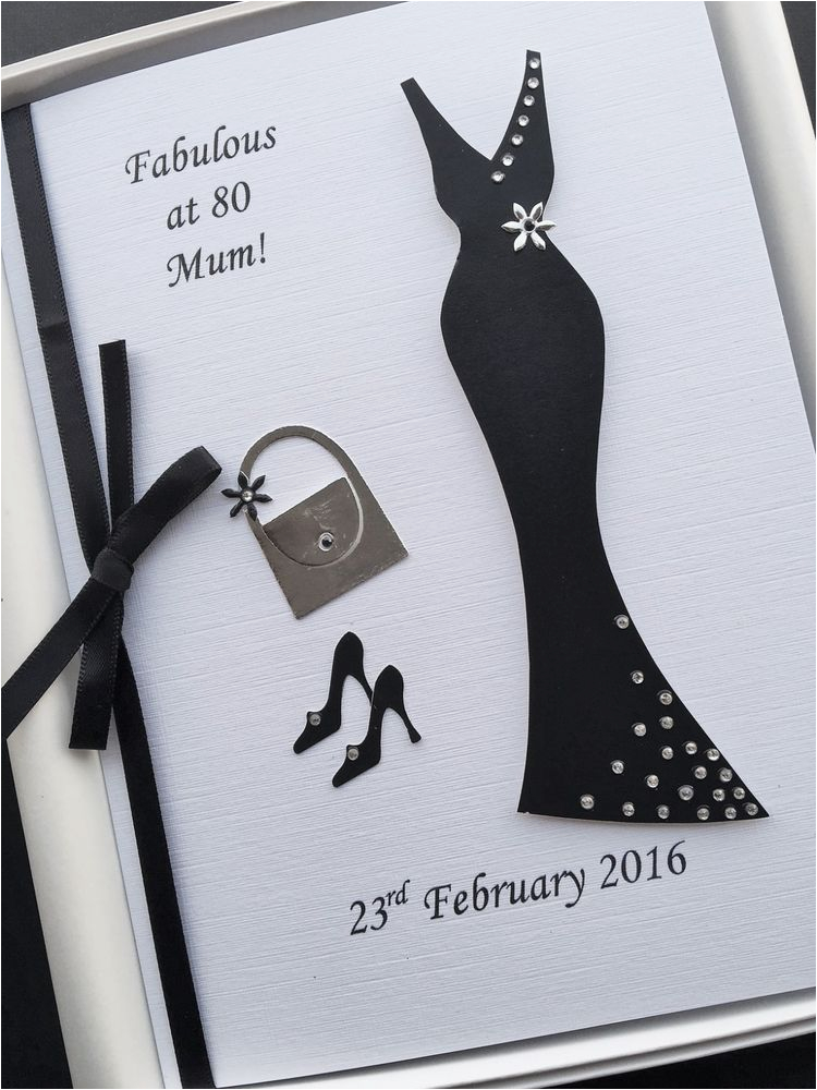 80th Birthday Card Designs For Women Personalised Handmade Gift