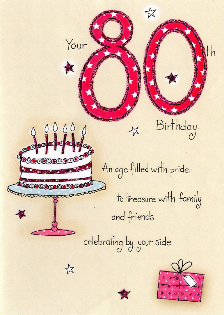 80th Birthday Card Message Greeting Messages Best Happy
