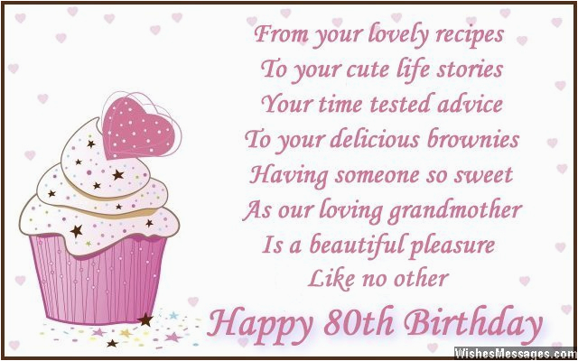 80th Birthday Card Message Wishes Wishesmessages Com