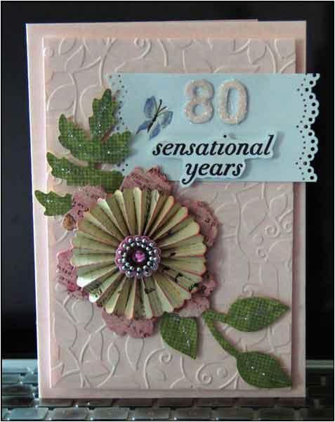 moms 80th birthday card