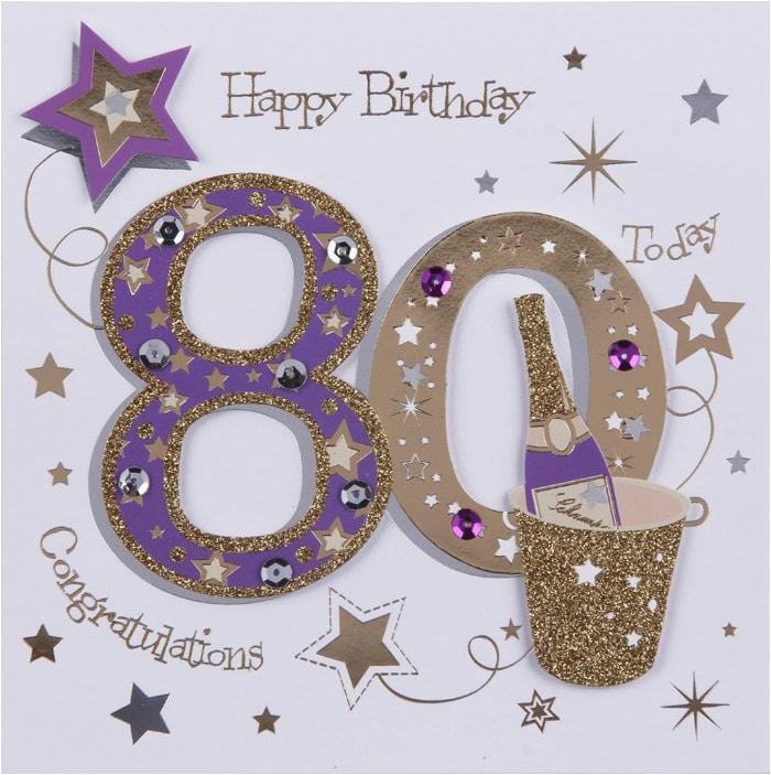 80th 90th 100th birthday cards