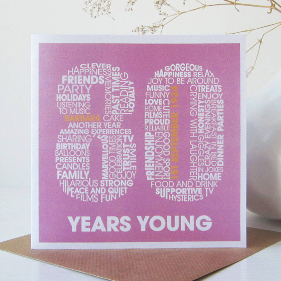 80th Birthday Cards Free Printable Personalised Card By Mrs L