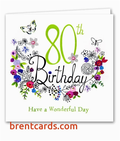 printable birthday cards for him best of 80th birthday cards