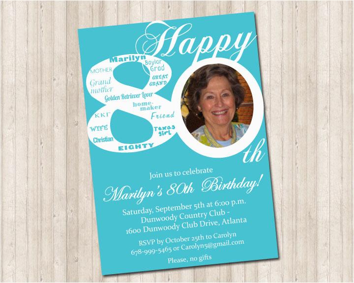 80th Birthday Celebration Invitations Invitation Pure Design Graphics