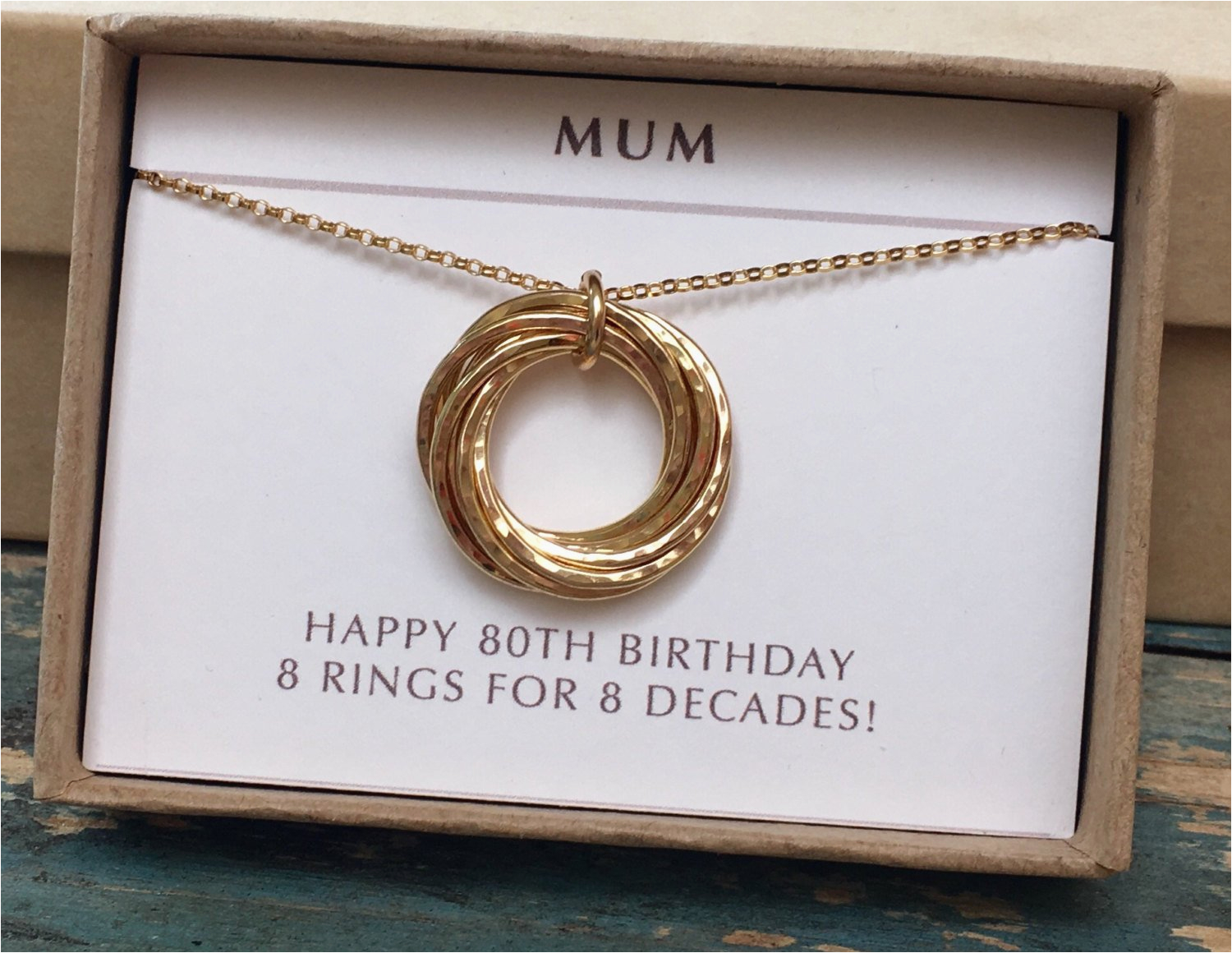 80th Birthday Gifts For Her Gift Mum Gold Necklace Mom Grandma