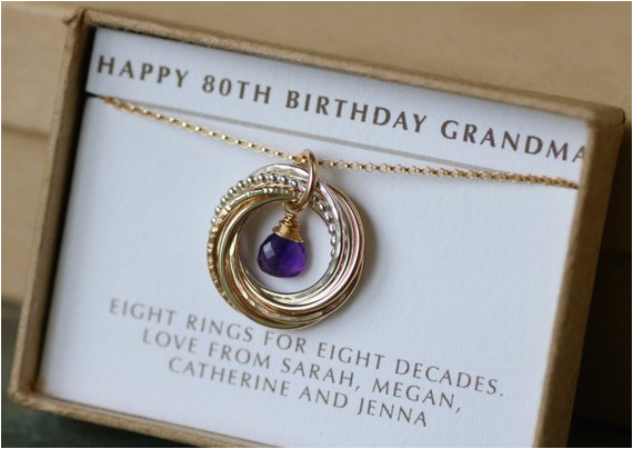 80th Birthday Gifts For Her Gift Grandma February