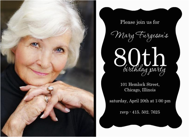 80th Birthday Invitation Templates Free Party Invitations Template Best