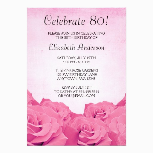 80th Birthday Invitation Templates Free Printable Invitations