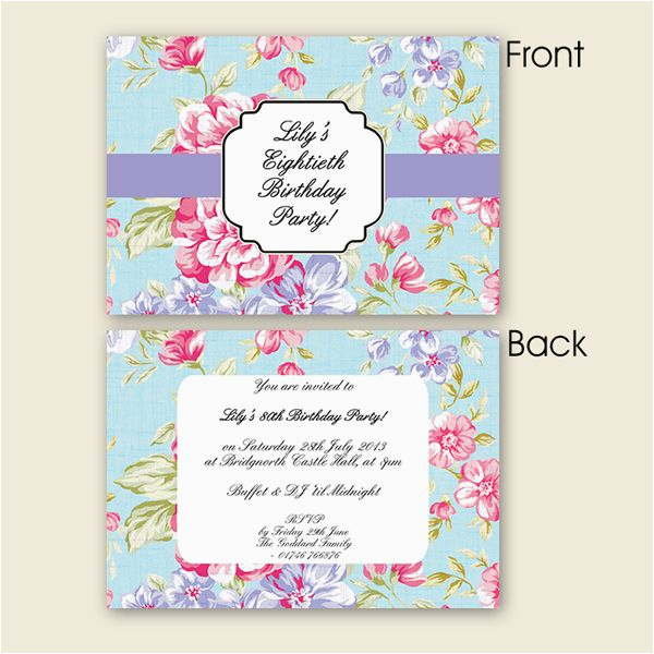 80th Birthday Invitation Wording Samples Party