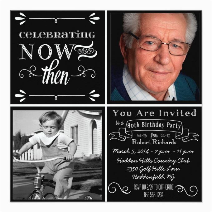 80th Birthday Party Invitations With Photos Best 25 Ideas On Pinterest
