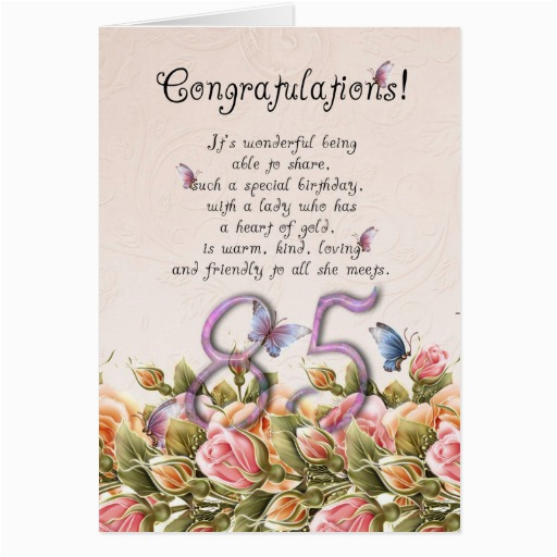85th birthday card with butterflies and roses co 137569560417263715