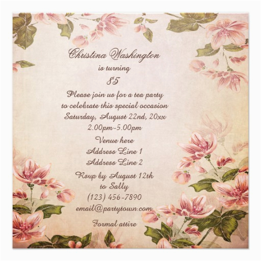 85th Birthday Invitation Template Invites 700 Templates
