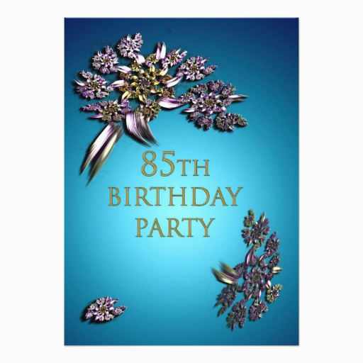 85th Birthday Invitation Template Party Zazzle