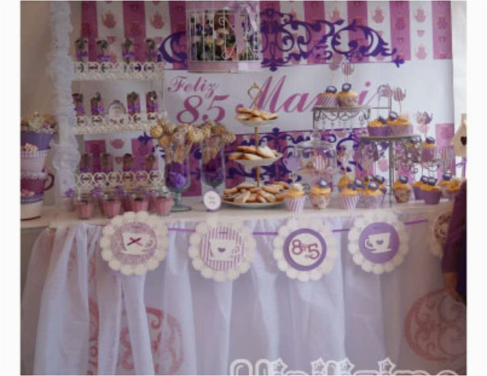85th Birthday Party Decorations Tea Party Birthday Quot Tea Party 85th Bday Quot Catch My Party