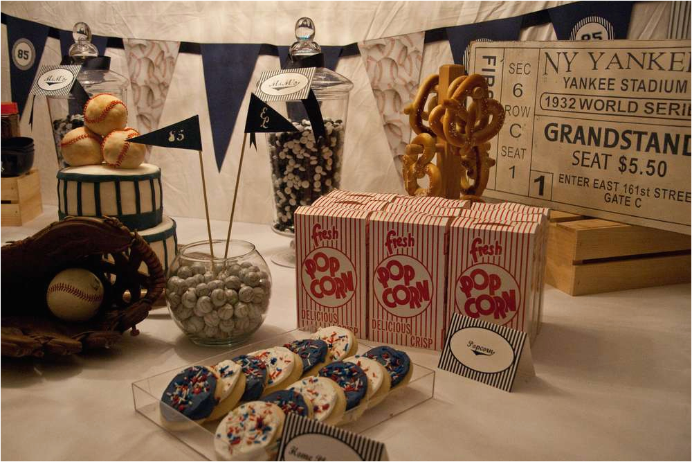 85th Birthday Party Decorations Vintage Baseball Ideas Photo 12 Of 22