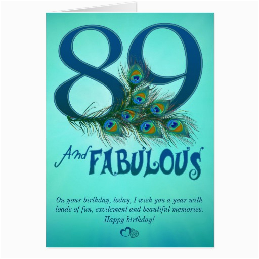 89th birthday template cards 137377769656563708
