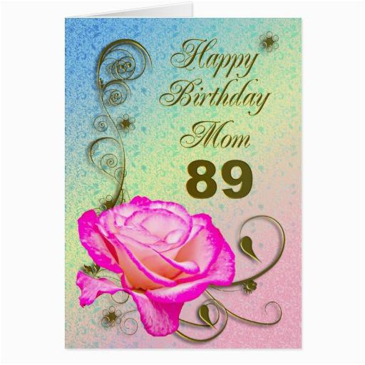 elegant rose 89th birthday card for mom 137005395649389988