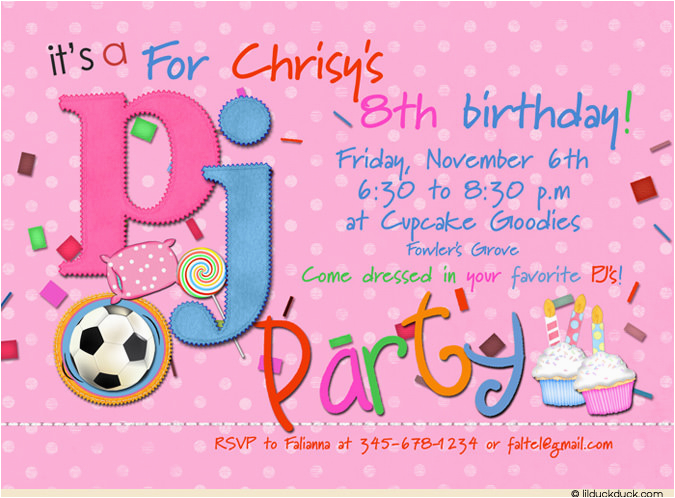 8th Birthday Invitation Templates Party Wording Dolanpedia