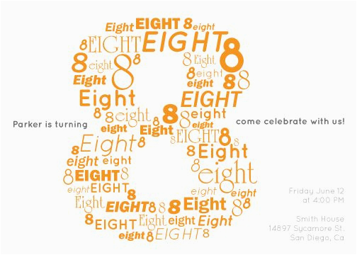 8th Birthday Invitation Templates Party Invitations Wording Free