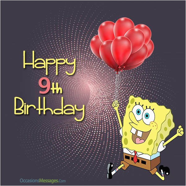 9 Year Old Birthday Card Sayings Happy 9th Wishes Occasions Messages