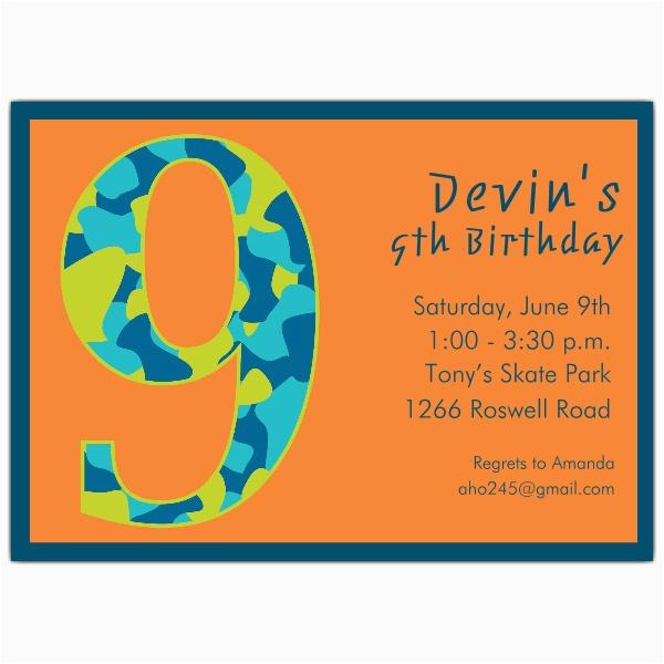 9 Year Old Birthday Invitations Invitation Wording Dolanpedia