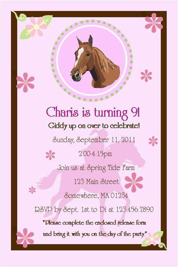 9 years old birthday invitations wording