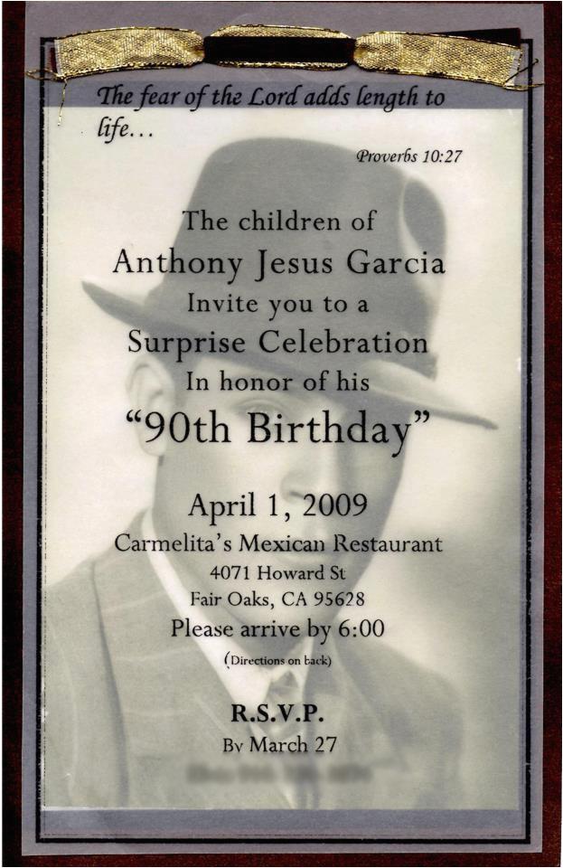 90 Birthday Invitation Wording 90th Party Cimvitation