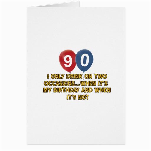 90 Year Old Birthday Cards Designs Greeting Zazzle