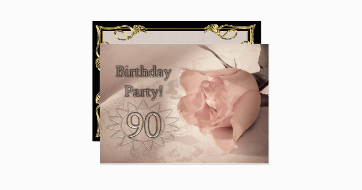 Birthday Party Invitation 90 Years Old 161924578022632521