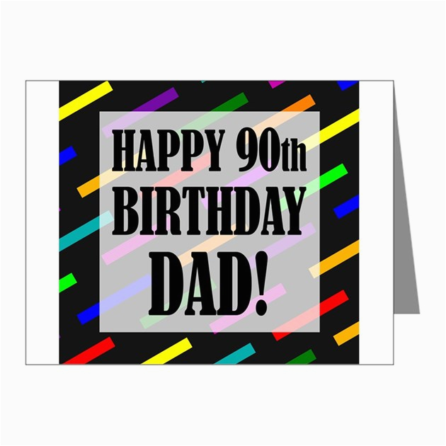 90th birthday for dad note cards pk of 10 by birthdayhumor1