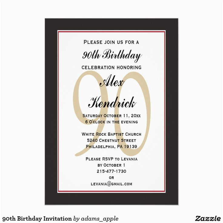90th Birthday Celebration Invitation Invitations Birthdays And