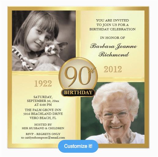 90th Birthday Celebration Invitation Invitations And Wording