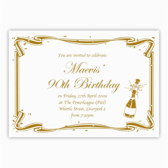 dbmf149 90th birthday party invitation