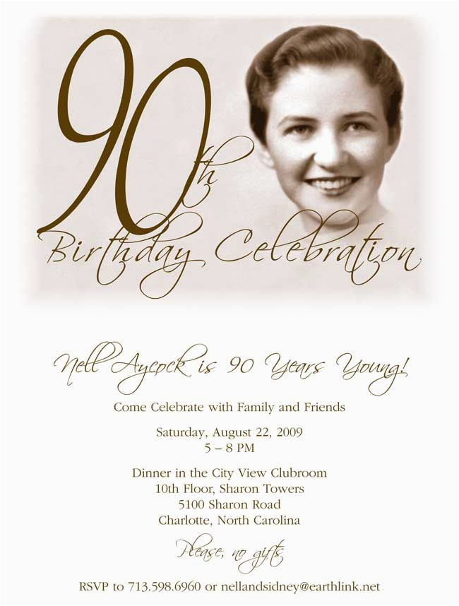 90th Birthday Celebration Invitation Best 25 Invitations Ideas Only On Pinterest
