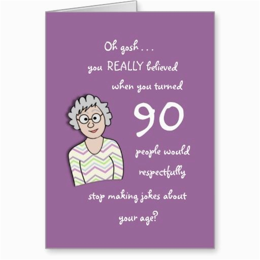 90th Birthday Gift Ideas For Her Gifts Funny Card