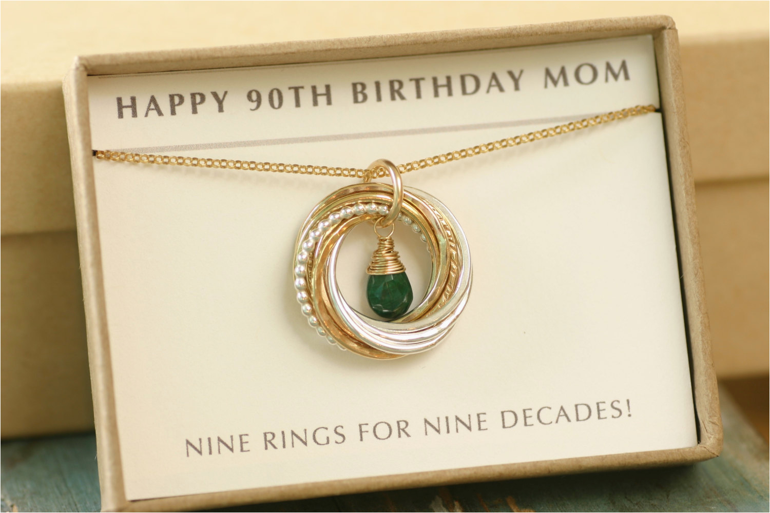 90th birthday gift for mother necklace by ilovehoneywillow