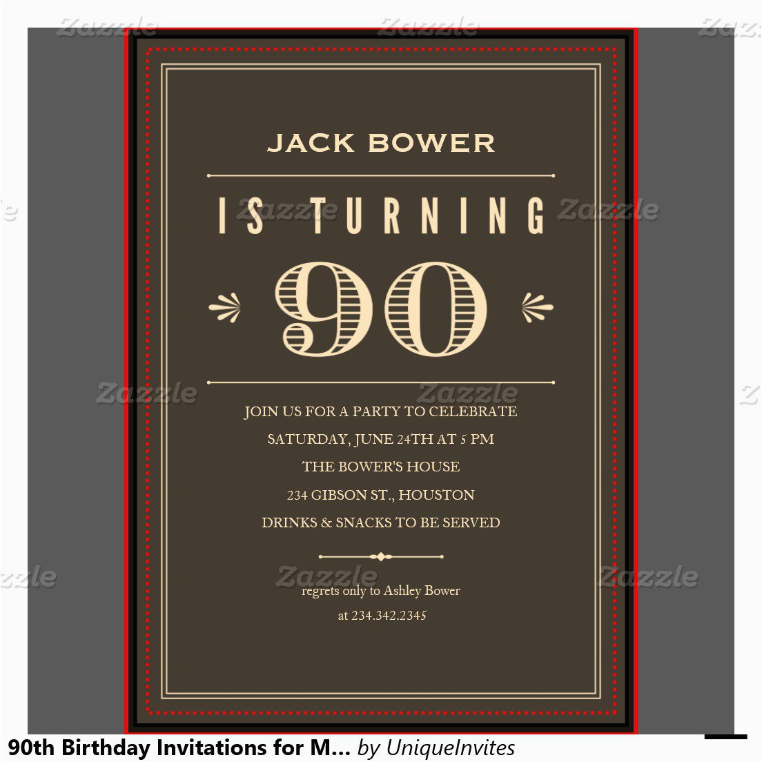 90th Birthday Invitations Free Best Party Ideas