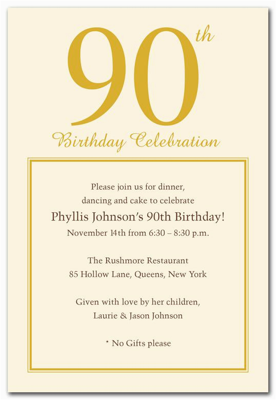 90th Birthday Invites Templates 15 Invitations Tips Sample
