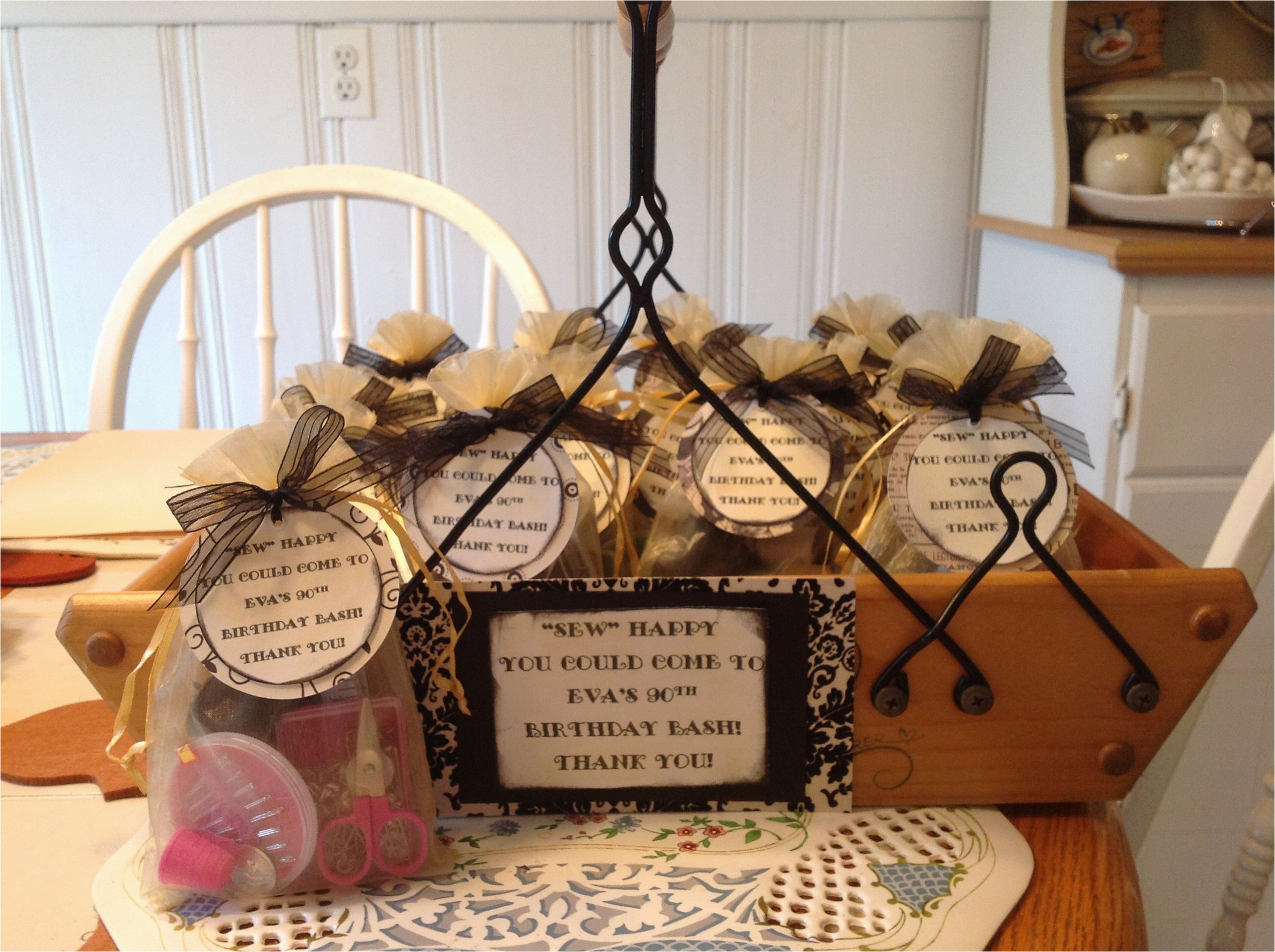 90th Birthday Party Decorations Ideas Mini Sewing Kits As A Favor For