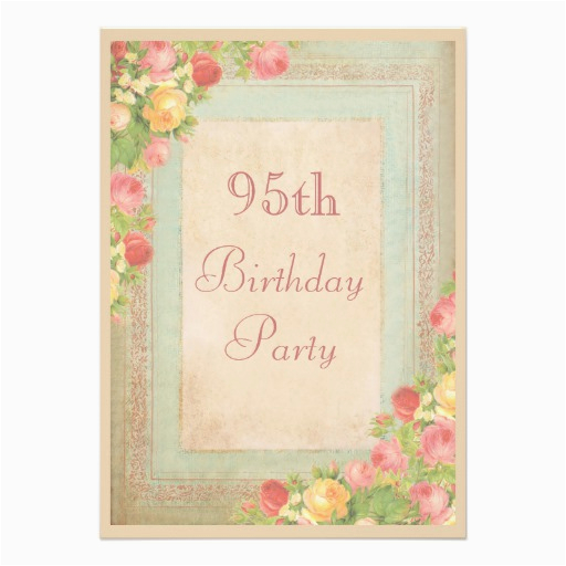 95th Birthday Party Invitations