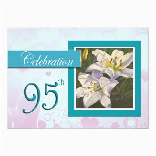 95th Birthday Party Invitations Celebration Invitation Lily Zazzle
