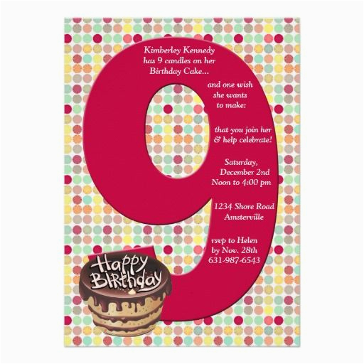 22 best 9th birthday party invitations images on pinterest