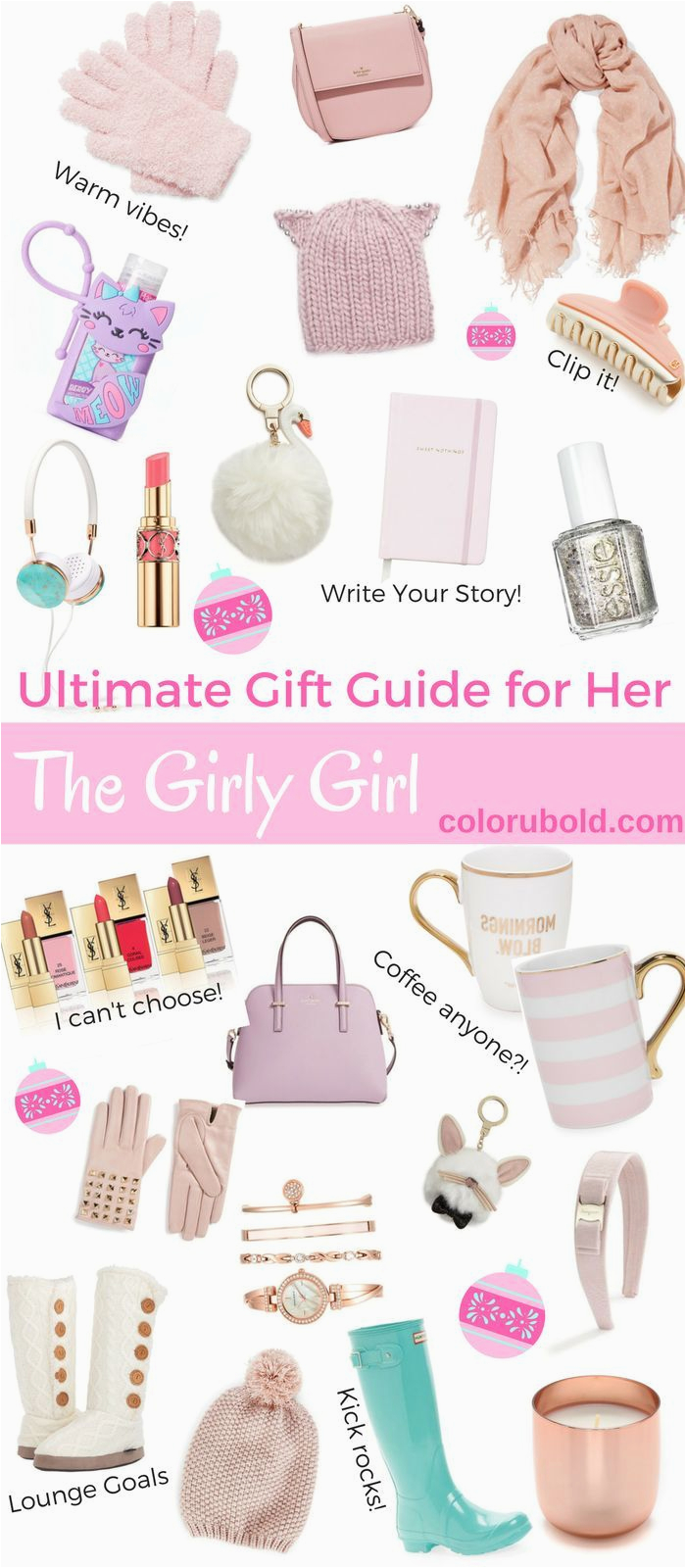 the ultimate gift guide for the girly girl girly girls
