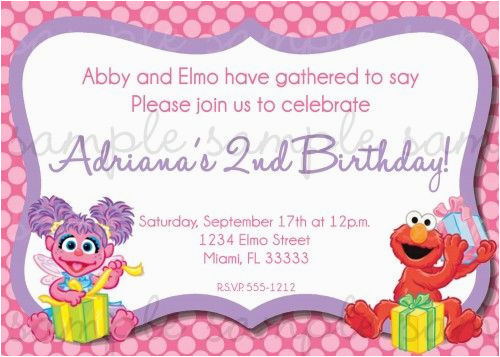 Abby And Elmo Birthday Invitations 25 Best Images About 2nd On