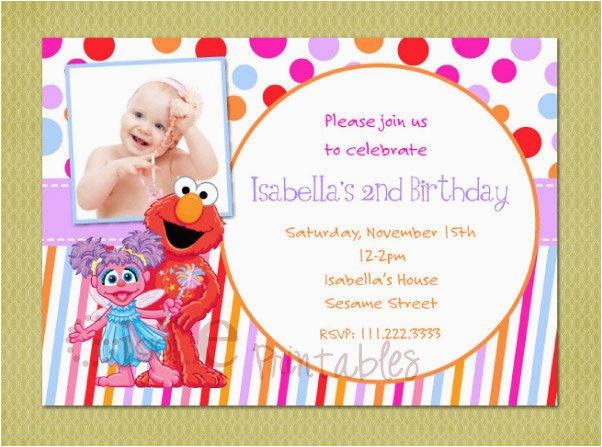 Abby And Elmo Birthday Invitations Cadabby Sesame Street Invitation