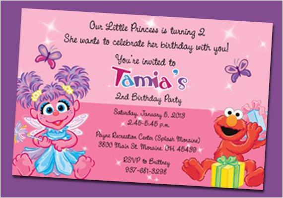 Abby And Elmo Birthday Invitations Items Similar To Cadabby