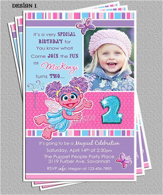 Abby Cadabby Birthday Invitations Abby Cadabby Birthday Party Invitations Diy Digital File You