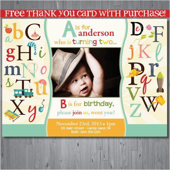 alphabet birthday parties