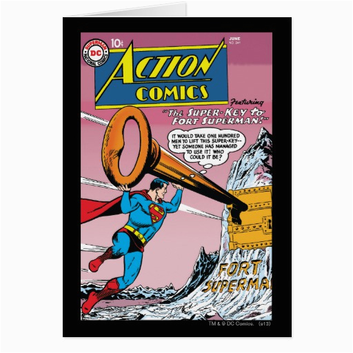 action comics 241 greeting cards zazzle